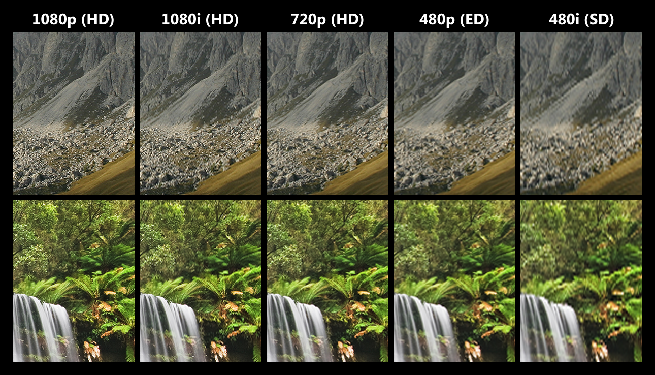 HD vs SD image